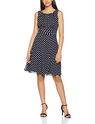 ESPRIT Collection Damen 027EO1E006 Kleid, Blau (Navy 2 401), 34