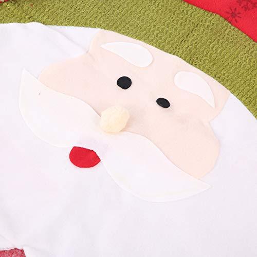 FEBT Stuhllehnenbezug, Stuhlbezug, Abnehmbarer bedruckter Schonbezug Stoff Stuhlbezug Wohnaccessoires für die Weihnachtsfeier der Familie(Santa Claus)