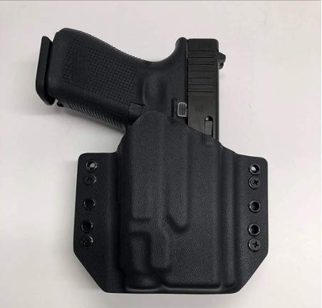 Black Kydex Holster Compatible with Glock 45 Streamlight TLR-7