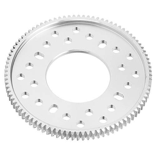 Engranaje de aluminio cilíndrico de 90 dientes Agujero central 32 mm Paso de engranaje 0,8 mm Piezas de sobrevelocidad de desaceleración de diente recto