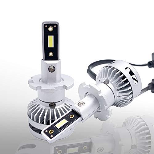 2x bombillas de faros LED D2S D4S D2R D2H de gama alta CANBUS 6000K Haz alto/haz alto Seoul CSP LED blanco 80W 11000LM reemplaza D2S D2h D2H bombillas HID: una garantía de 18 meses