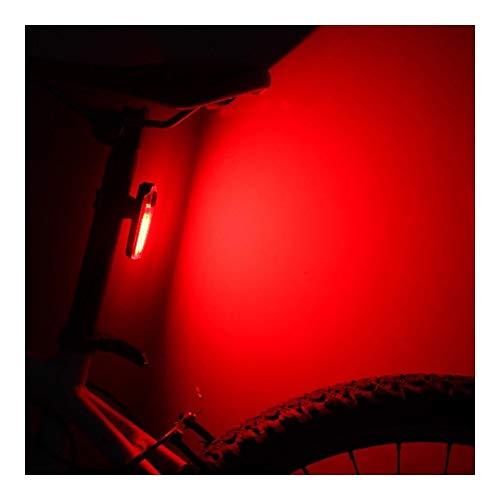 NOLOGO Yg-ct Fahrradbeleuchtung USB-Lade-LED Wasserdicht Radfahren Heckleuchten Nacht Sicherheit beim Reiten Warnlicht Fahrradlampe Fahrradzubehör (Farbe : Rot)