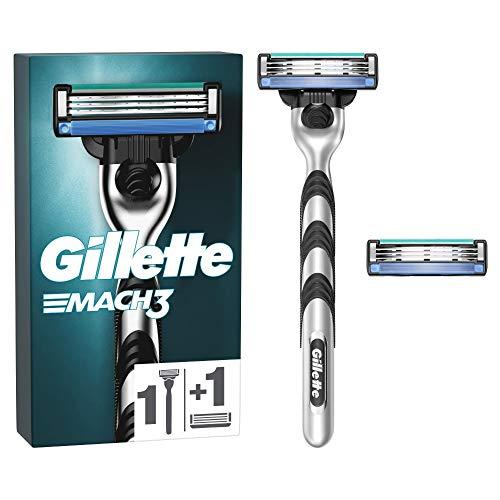 Gillette Mach3 Rasierer Herren mit 2 Rasierklingen, Klingen aus präzisionsgeschliffenem Stahl für bis zu 15 Rasuren pro Rasierklinge, aktuelle Version