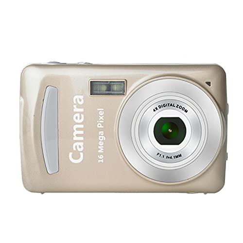 Mini fotocamera digitale, schermo LCD da 2,4 pollici, 2 MP a 30 fps, registrazione video portatile, durevole, fotocamera digitale 24 Mega pixel con zoom per studenti e adulti HD fotocamera (oro)