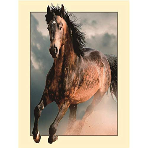 Sunnay Diamond Painting, mooi dier van het paard 3D 5D diamant borduurwerk niet volledige dril fantoom vlinders DIY decoratie schilderij kruissteek Kit 45x35cm