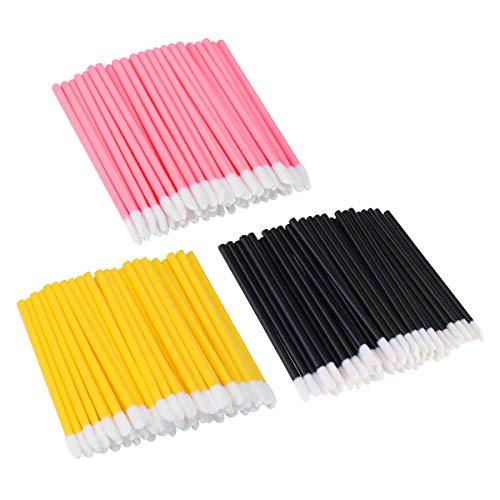 Frcolor 300 Stück Einweg-Lippenbürsten Lippenstift Lip Gloss Applikator Make-up Pinsel Tool Kits