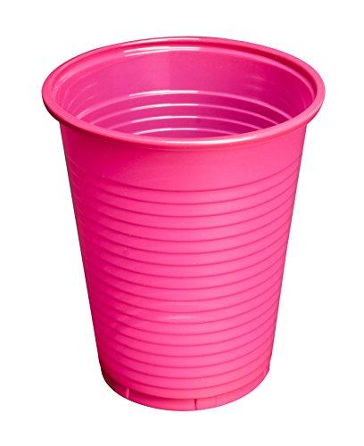 Trinkbecher pink, 100 Stück à 180 ml Plastikbecher