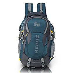 HEROZ Hammer Unisex Nylon 45 L Travel Laptop Backpack Water Resistant Slim Durable Fits Up to 17.3 Inch Laptop Notebook (All) (Grey & A. Blue 1000),Heroz,057