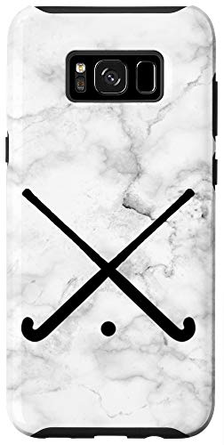 Galaxy S8+ Field Hockey Phone Case - White and Black Case