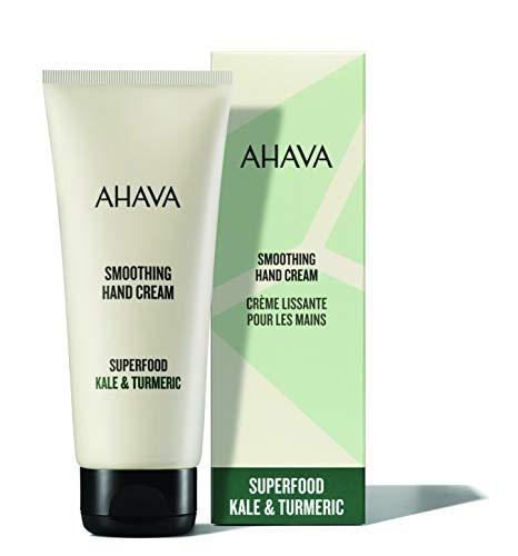 AHAVA Kale Turmeric & Dead Sea Minerals Smoothing Anti Aging Hand Cream for dry & cracked Skin, Vegan, 3.4 fl. oz.