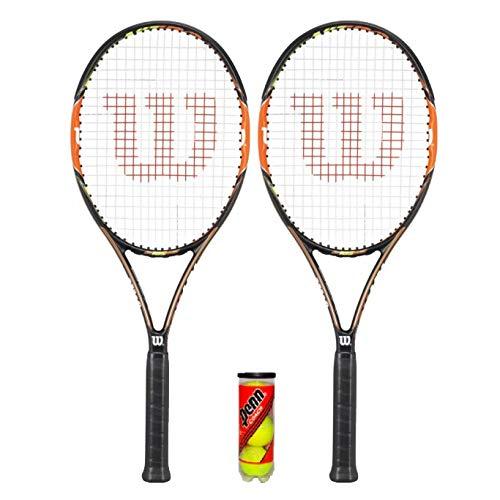 Wilson Nitro Pro 103 - Raqueta de tenis (2 unidades, incluye 3 pelotas de tenis)