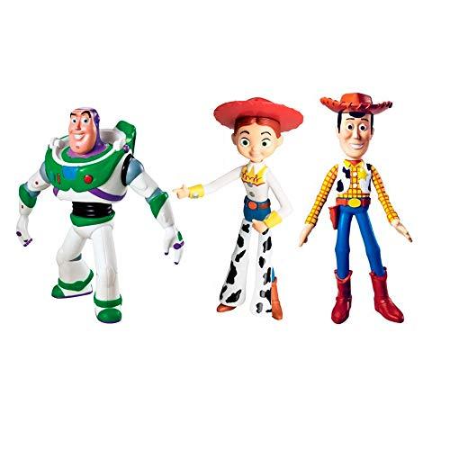 Coleção Bonecos Toy Story Disney Kit Com Woody Buzz Jessie Líder Brinquedos