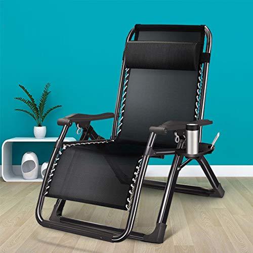 CUICI Falten Lounge-Stuhl,Terrasse Liege,Einstellbar Zero Gravity Stuhl Napping Stuhl,Mit Cup Holder Und Kopfstütze Unterstützung 350lbs