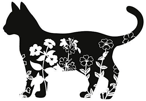 Katzen Aufkleber Sticker Tiere Tierschutz Love Cats ca. 15x10 cm