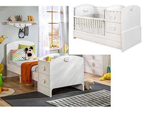 Cilek Baby Cotton mitwachsendes Babybett, 75x160 cm Matratze ohne Matratze