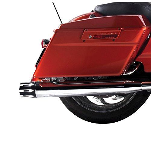 Rinehart Racing Moto Series 4' Slip-ons Chrome with Black Castle End Caps 500-0102-CASTLE