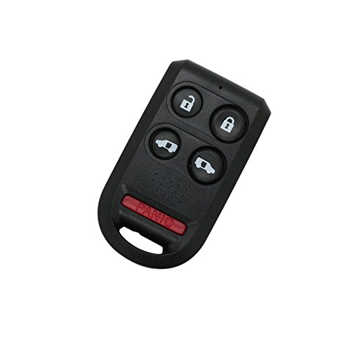 SEGADEN Replacement Key Shell Compatible with HONDA Odyssey Keyless Entry Remote Key Case Fob 4 Buttons + Panic 5 BTN PG216A