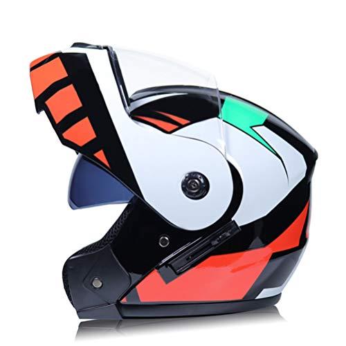 Modularer Motorrad Klapphelm Racing Motorradhelm mit Doppel Sonnenblende Damen Herren Jethelm Moto Helme DOT