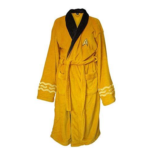 Star Trek Adult Captain Kirk Fleece Costume Bath Robe (Yellow, One Size)