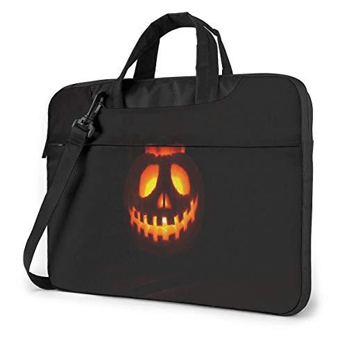 Laterne für Halloween Laptop Fall Hülle Aktentasche Computer Umhängetasche W/Strap