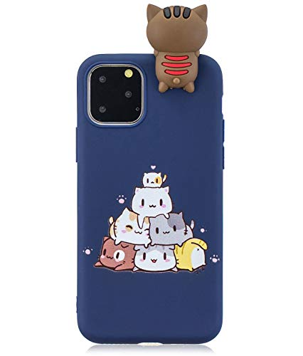 TopFunny Cases for iPhone 11 Case, iPhone 11 Silicone 3D Cute Cartoon Soft TPU Slim Fit Rubber Bumper Protective Gel Cover Case Compatible with Apple iPhone 11 6.1inch 2019 Print Cat