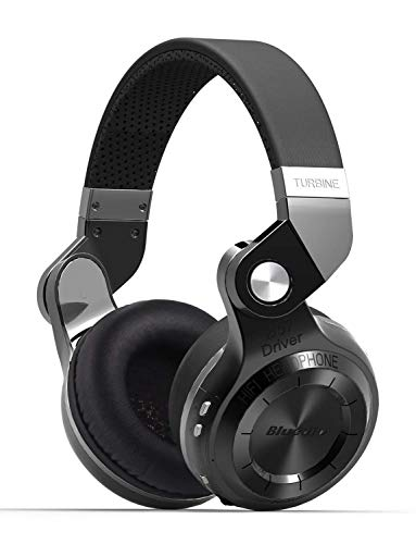 Bluedio Turbine T2SBCA001Cuffie Bluetooth e Wireless con microfono, pieghevole per Cellulare / TV / PC, Nero