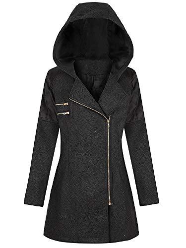 Bumplebee Mantel Damen Plüsch Winterjacke Casual Übergangsjacke Teddy-Fleece-Jacke Plüsch Coat Faux Wolle Warm flauschig Plüschjacke Winterparka