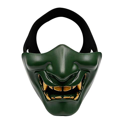 LIANA IRWIN Halloween Half Face Mask-Best Suited-air Gun/Paintball/Bb Gun/Cs Game/Hunting/Shooting Lower Face Protective Mask, Ideal Mask for Halloween, Role Playing, Costume Party and Movie Props