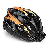 MOKFIRE Casco Bicicleta con Visera, protección de Seguridad Ajustable Casco Ligero para Ciclismo de montaña para Adultos Hombres Mujeres (54-62 CM)