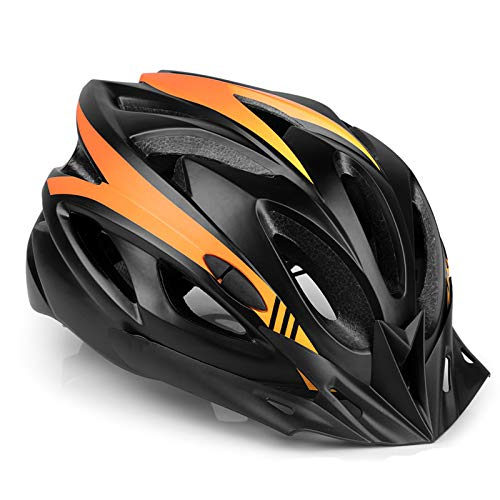 MOKFIRE Bike Helmet CPSC Certified with Detachable Visor, Mountain & Road Bicycle Helmets Adjustable for Adult Men and Women 21.26-24.41 Inches