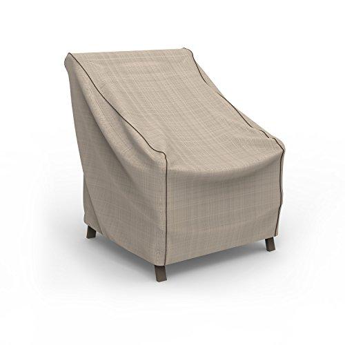 Budge English Garden Patio Chair Cover, Medium (Tan Tweed)