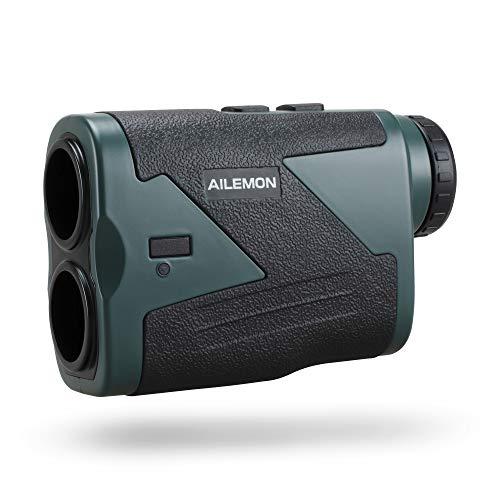 AILEMON Laser Rechargeable Hunting Rangefinder 1200 Yard 6X Magnification USB Charging Range Finder with Flag-Lock
