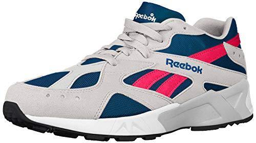 Reebok Aztrek - Mujeres Blanco/Azul Marino/Ácido Rosa Nylon Zapatillas Running, blanco (Nailon blanco/azul marino/rosa ácido.), 37 EU