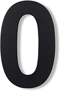 Mellewell Modern Floating House Numbers, Large 8 Inch, Stainless Steel 18-8 Black, Number 0 Zero