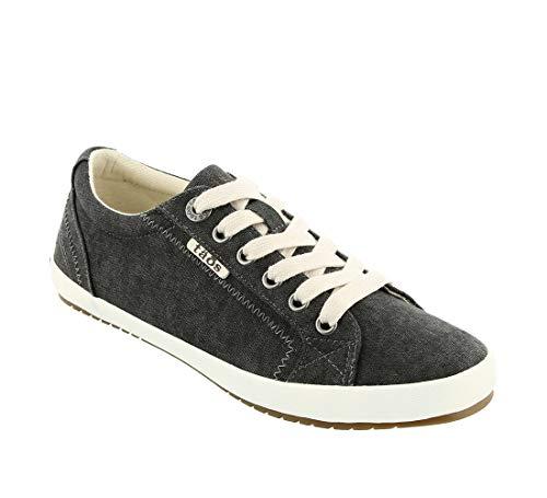Taos Footwear Women's Star Charcoal Wash Canvas Sneaker 7 W US