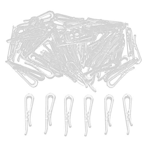 300/500/1000 Uds Clips Transparentes Para Ropa En Forma De U Pinzas Para Ropa De Plástico Clips Transparentes De Cocodrilo Clips Transparentes Clips Para Ropa Con Dientes Para Corbatas Calcetines