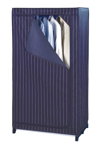 WENKO 4381650100 Kleiderschrank Comfort, Kunststoff - PEVA, 75 x 150 x 50 cm, Blau