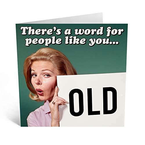 Central 23 – Lustige Geburtstagskarte – Unhöfliche Karte für Sie – Retro-Grußkarte für ihn – Hysterisches Design für Freunde – Humor – Kommt mit lustigen Aufklebern