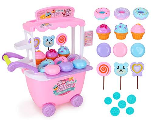 Toyland - Spingi nel Carrello del Negozio di Torte e Dolci - Fai Finta di Giochi per Bambini