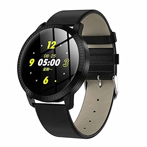 CF18P - Reloj inteligente para mujer, de metal, resistente al agua, IP67, multifunción, multifunción, color negro