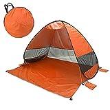 FDYZS Pop Up Beach Tent para 1-3 Persona Calificación UPF 50+ para protección Solar UV Refugios de Sol Impermeables para el Campamento Familiar, Pesca, Picnic, Playa,Amarillo