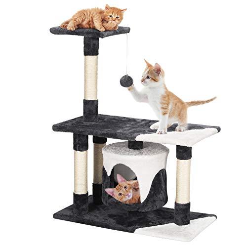 Yaheetech Kratzbaum Kletterbaum Spielbaum für Katzen Katzenmöbel mit Spielsisal Höhe 90 cm