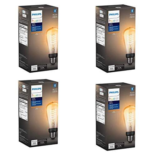 Philips Hue 551788-4 Smart Filament, 4 Pack, ST19