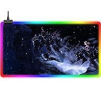 マウスパッド RGBファイナルファンタジーラージマウスパッドは精度と速度を向上させますアニメ拡張サイズゲーミングマウスパッドは14の照明モードを導きましたコンピューター用ポータブルラップトップキーボードデスクパッド800x300mm XL