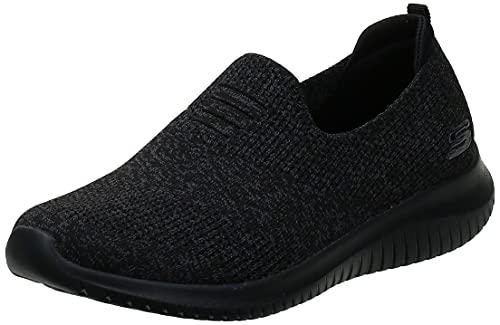 Skechers Ultra Flex-Harmonious, Zapatillas Mujer, Negro (BBK Black Mesh/Trim), 38 EU