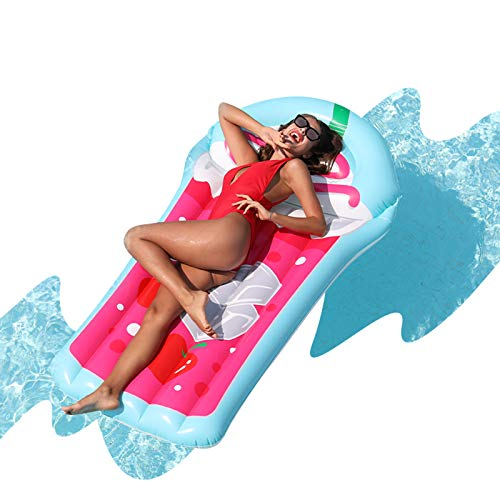 AirMyFun Inflatable Juice Giant Swimming Pool Floating, Adult Inflatable Recliner Raft, Summer Party Theme, Youth Water Game Accessories, Creative Juice Cup Style