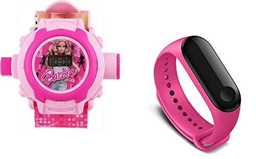 Lemonade Pack of 2 - Orologio preferito per bambini 24 caratteri, cinturino per orologio e cinturino rosa M3, orologio da polso per ragazze, bambini