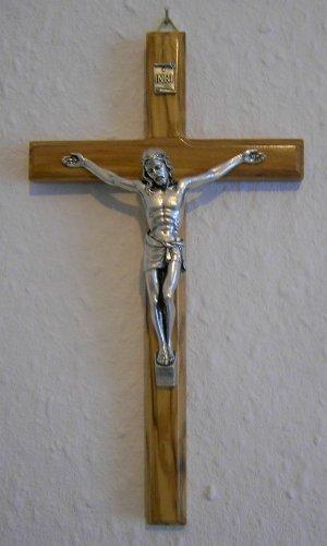Wandkreuz, Kruzifix aus Olivenholz, 16 cm