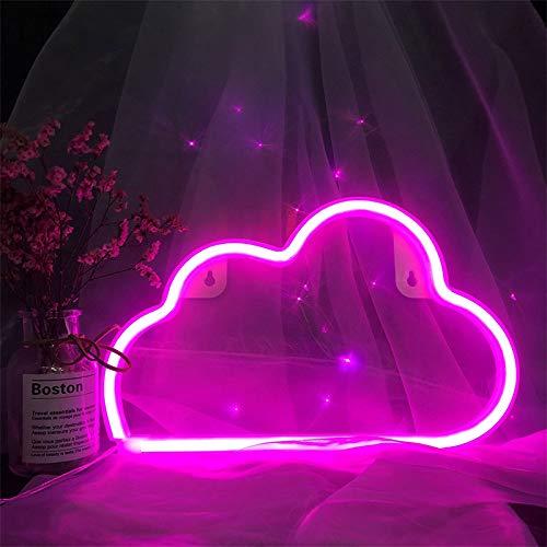 Pink Cloud Neon Light LED rosa Wolke Neonzeichen rosa Wolken Beleuchtung Wolke Neonzeichen Batterie/USB Operated Wolke Neon-Nachtlichter für Weihnachten Baby-Raum Weihnachten Hochzeit Zubehör