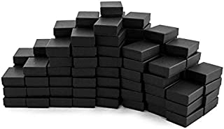 Black Matte Paper Cotton Filled Jewelry Box #11 (Case of 100)